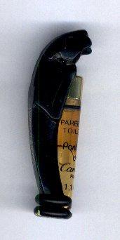 tube Panthère noir Parfum de toilette 1.1 ml vide  de Cartier